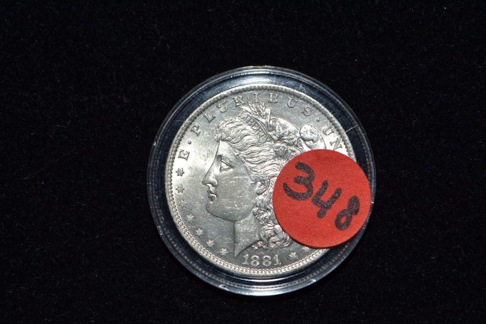 Lot # 348 1881 O MORGAN SILVER DOLLAR
