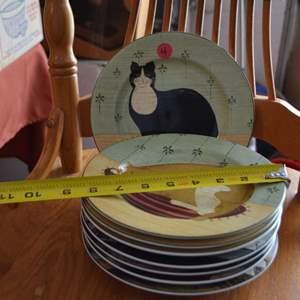 Lot # 4 EIGHT CAT DISHES