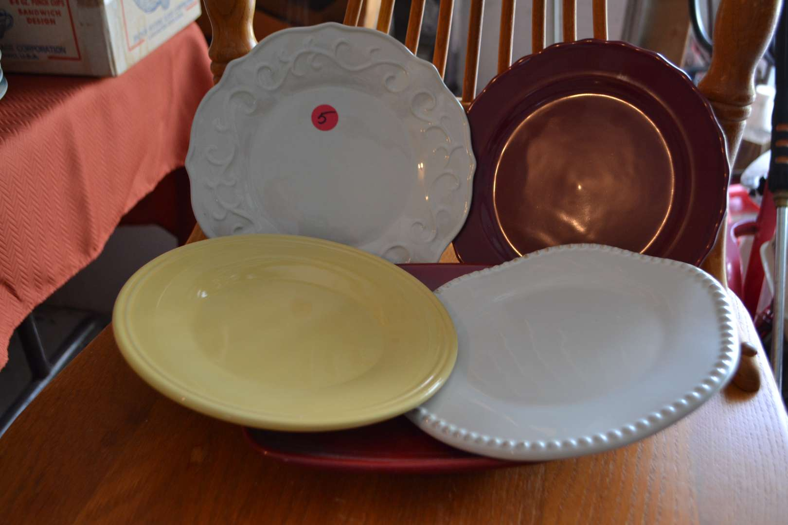 Lot # 5 FIVE ASSORTED DISHES