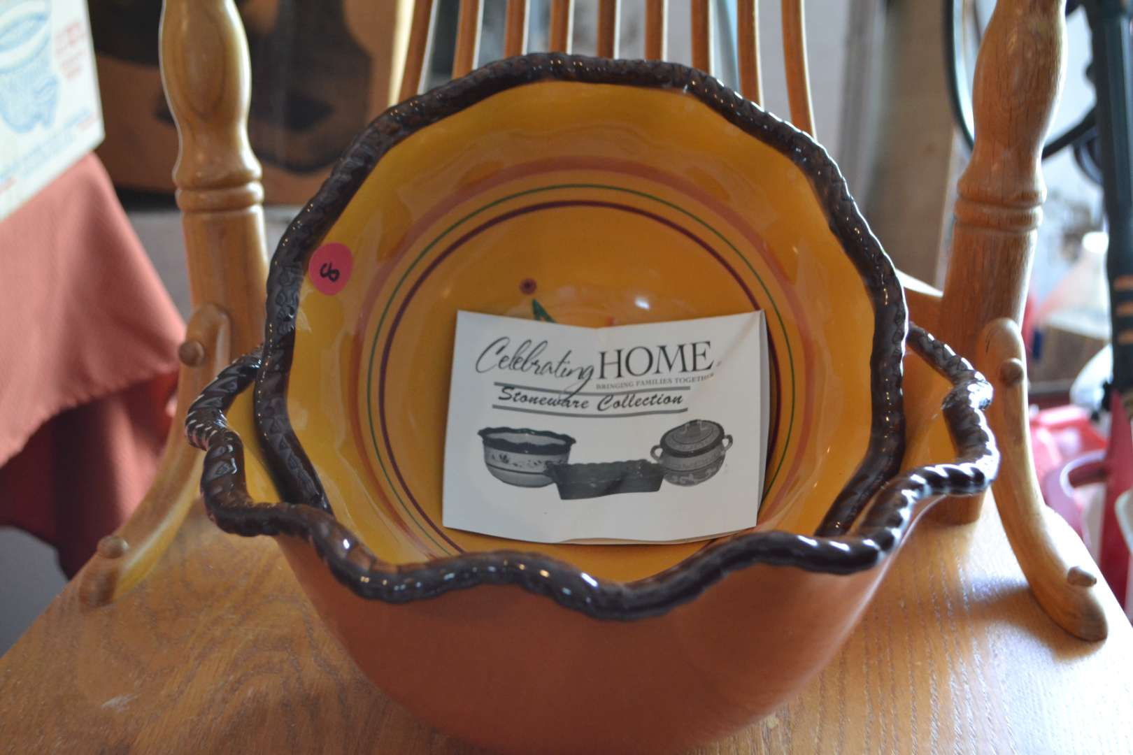 Lot # 8 CELEBRATING HOME STONE WARE COLLECTION 2 BOWLS