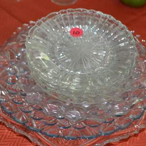 Lot # 10 ASSORTED GLASS PLATES