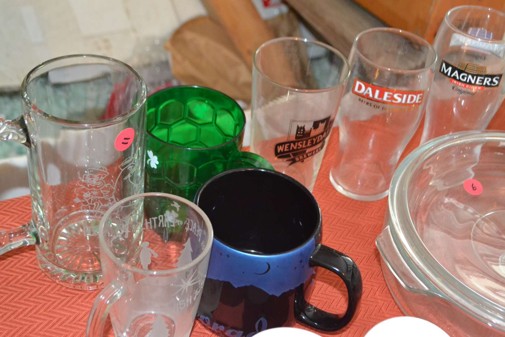Lot # 11 ASSORTMENT OF DRINKING GLASSES