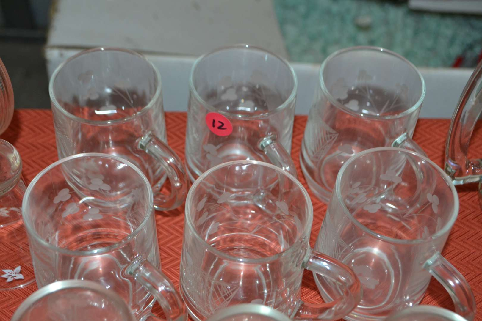 Lot # 12 ASSORTED DRINKING GLASSES