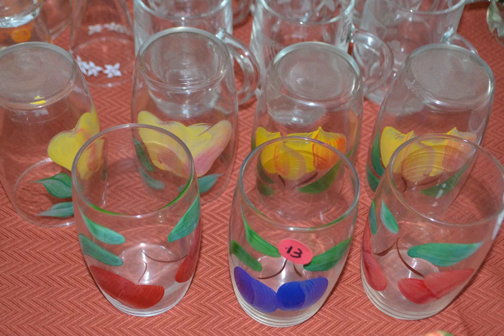 Lot # 13 ASSORTED DRINKING GLASSES