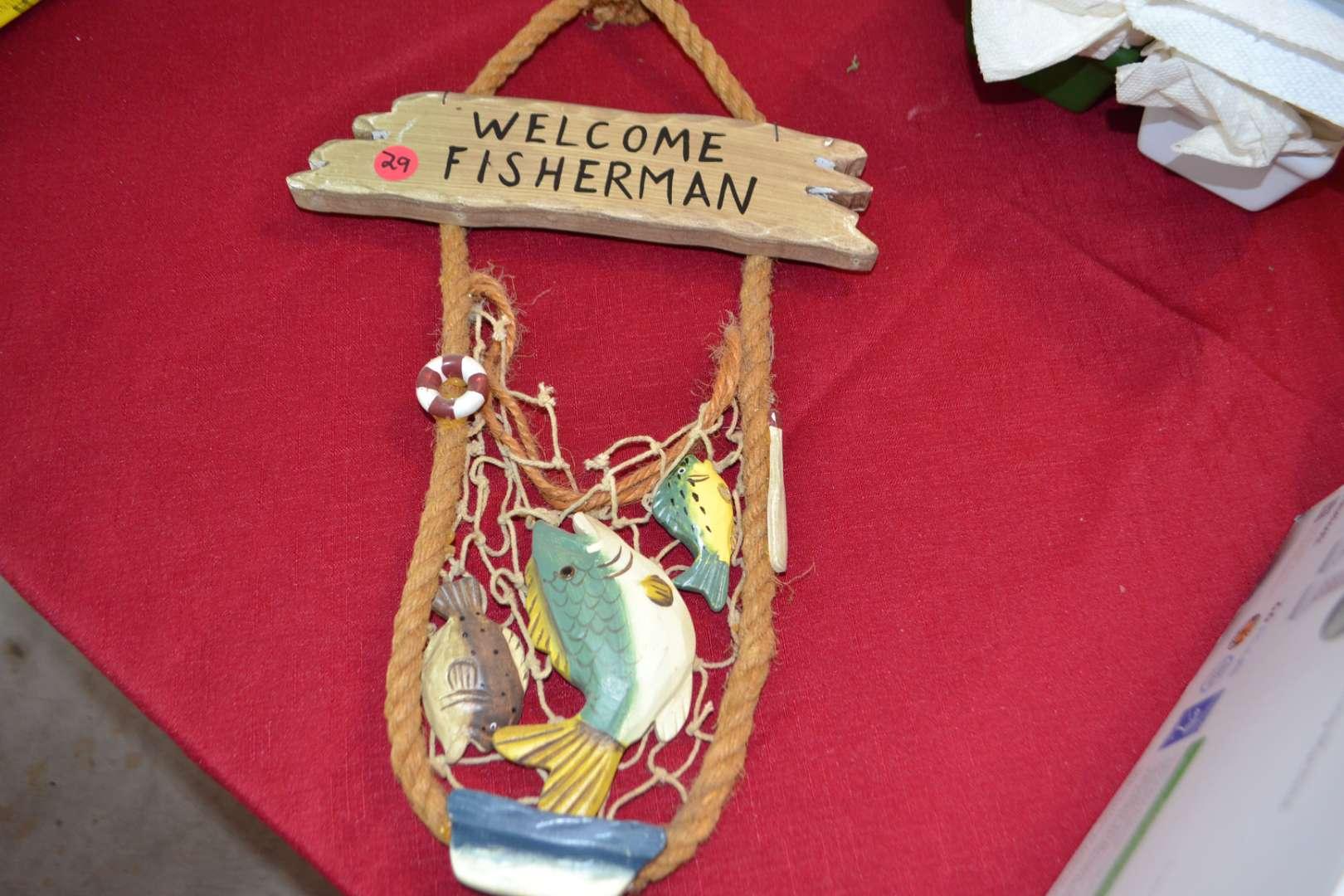 Lot # 29 FISHING SIGN