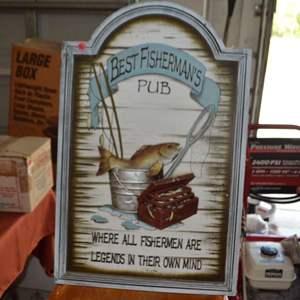 Lot # 30 FRAMED ART FISHING