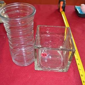Lot # 32 TWO GLASS VASES