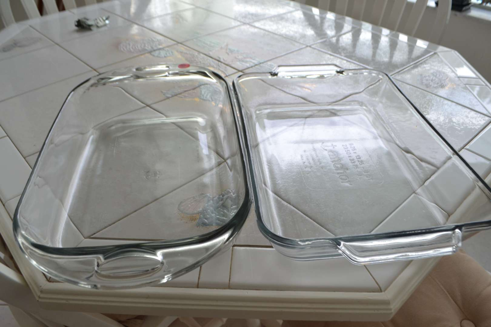 Lot # 56 TWO 9 X 13 GLASS BAKING DISHES