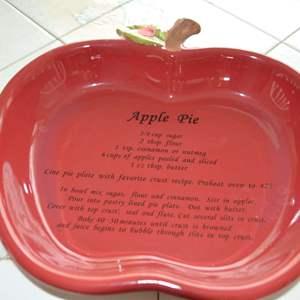 Lot # 57 APPLE PIE DISH WITH RECIPE