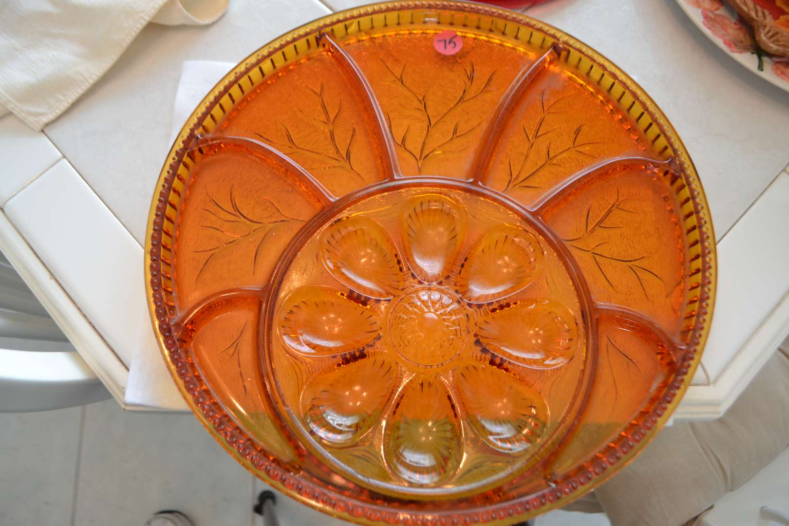 Lot # 75 GLASS SERVING TRAY
