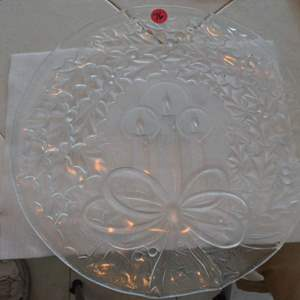 Lot # 76 GLASS SERVING TRAY