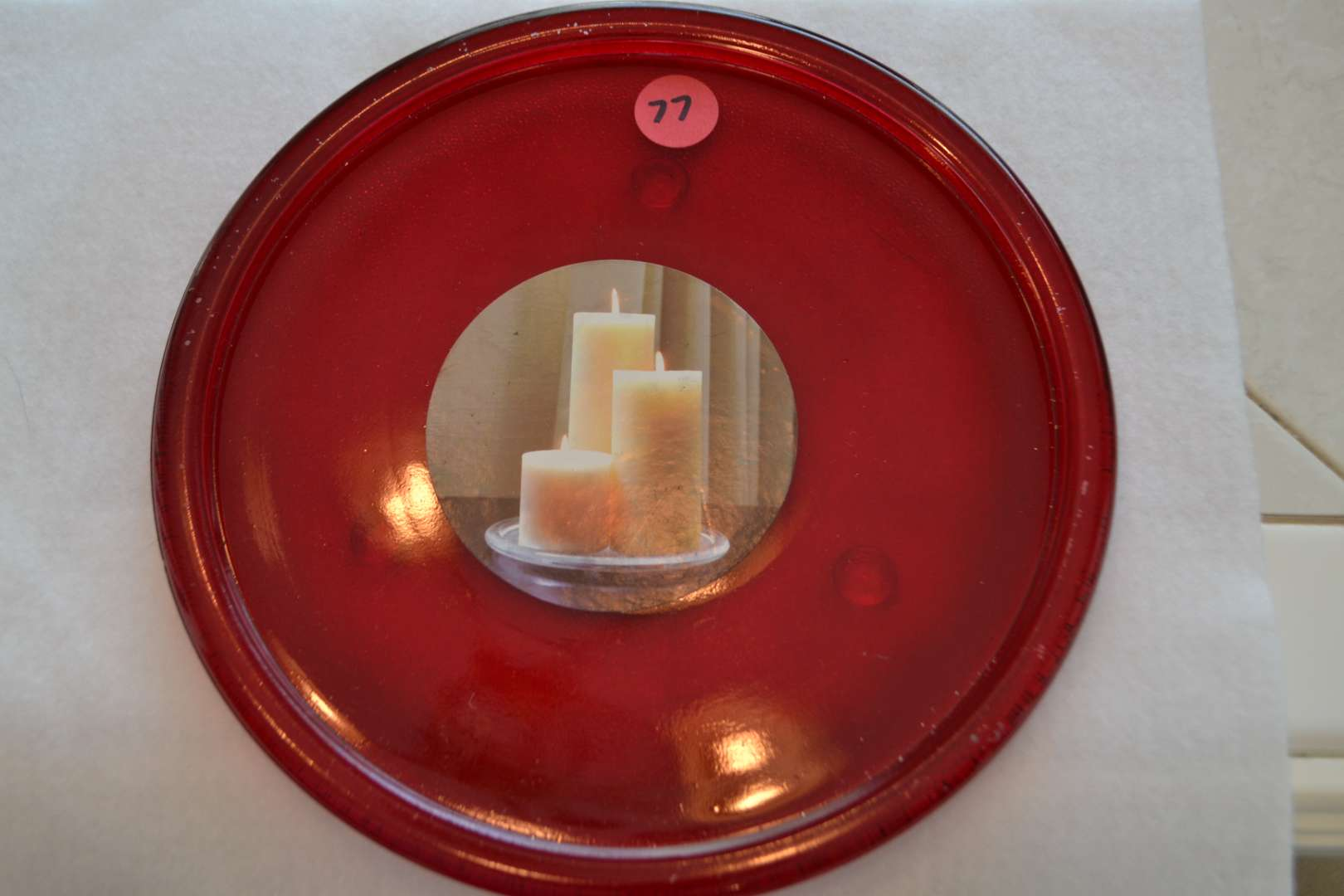 Lot # 77 CANDLE TRAY