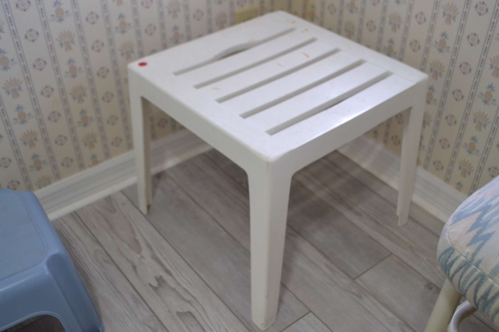 Lot # 79 PLASTIC SIDE TABLE