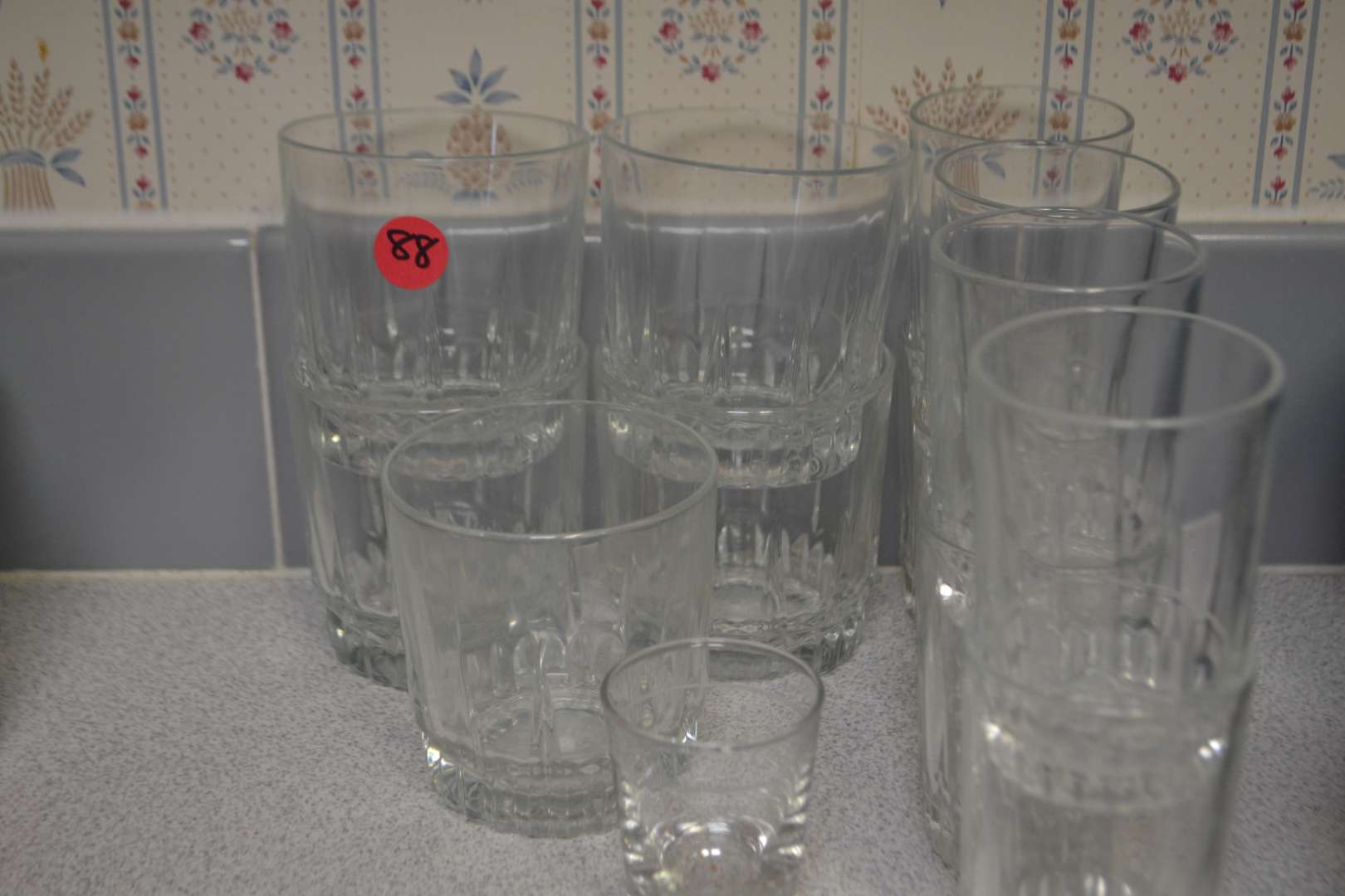 Lot # 88 LOT OF DRINKING GLASSES