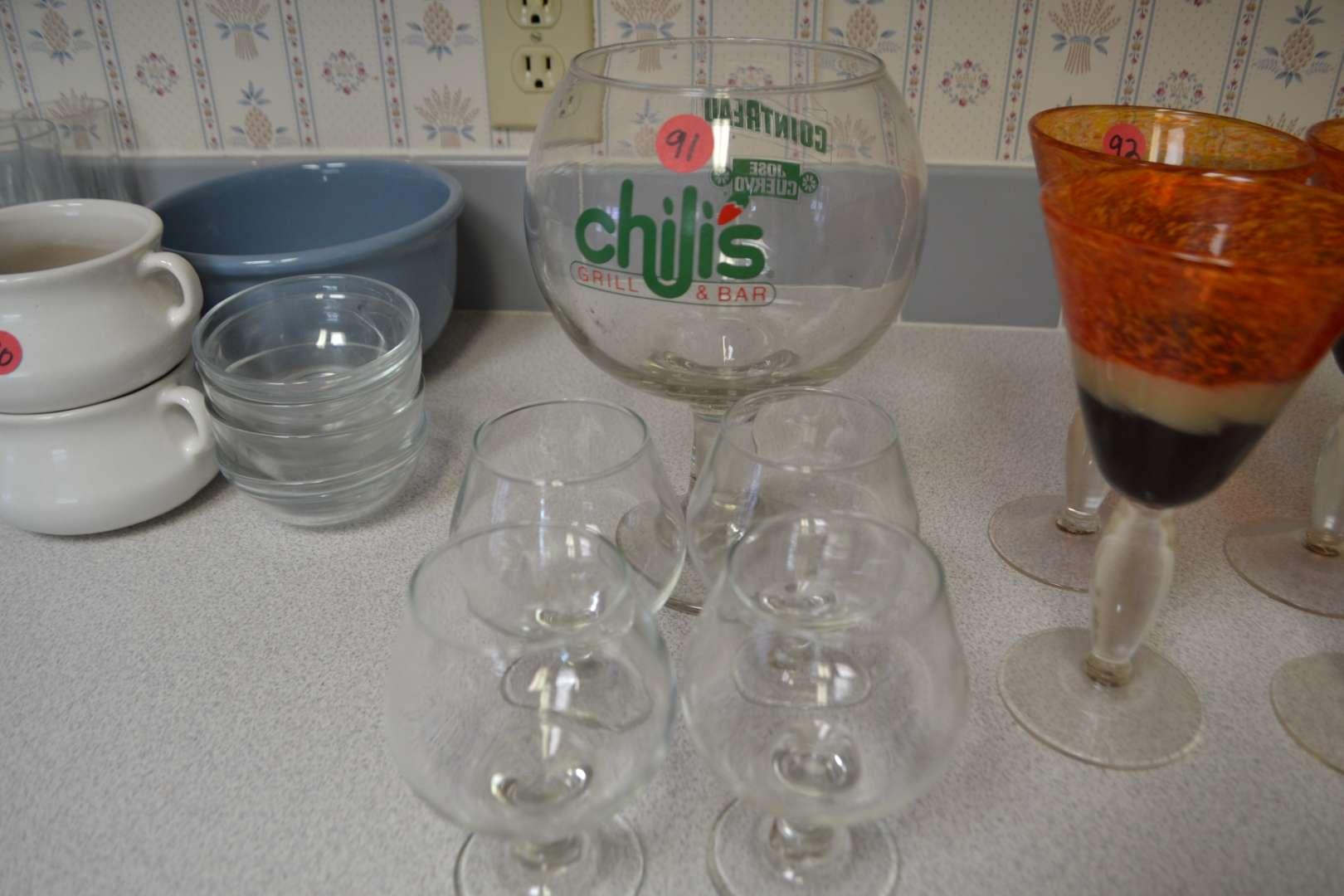 Lot # 91 LOT OF GLASSES