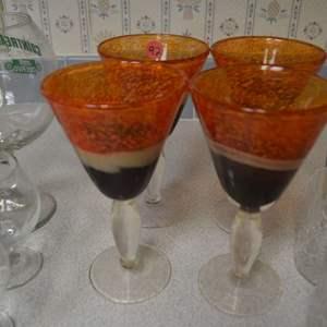 Lot # 92 FOUR MARGARITA GLASSES