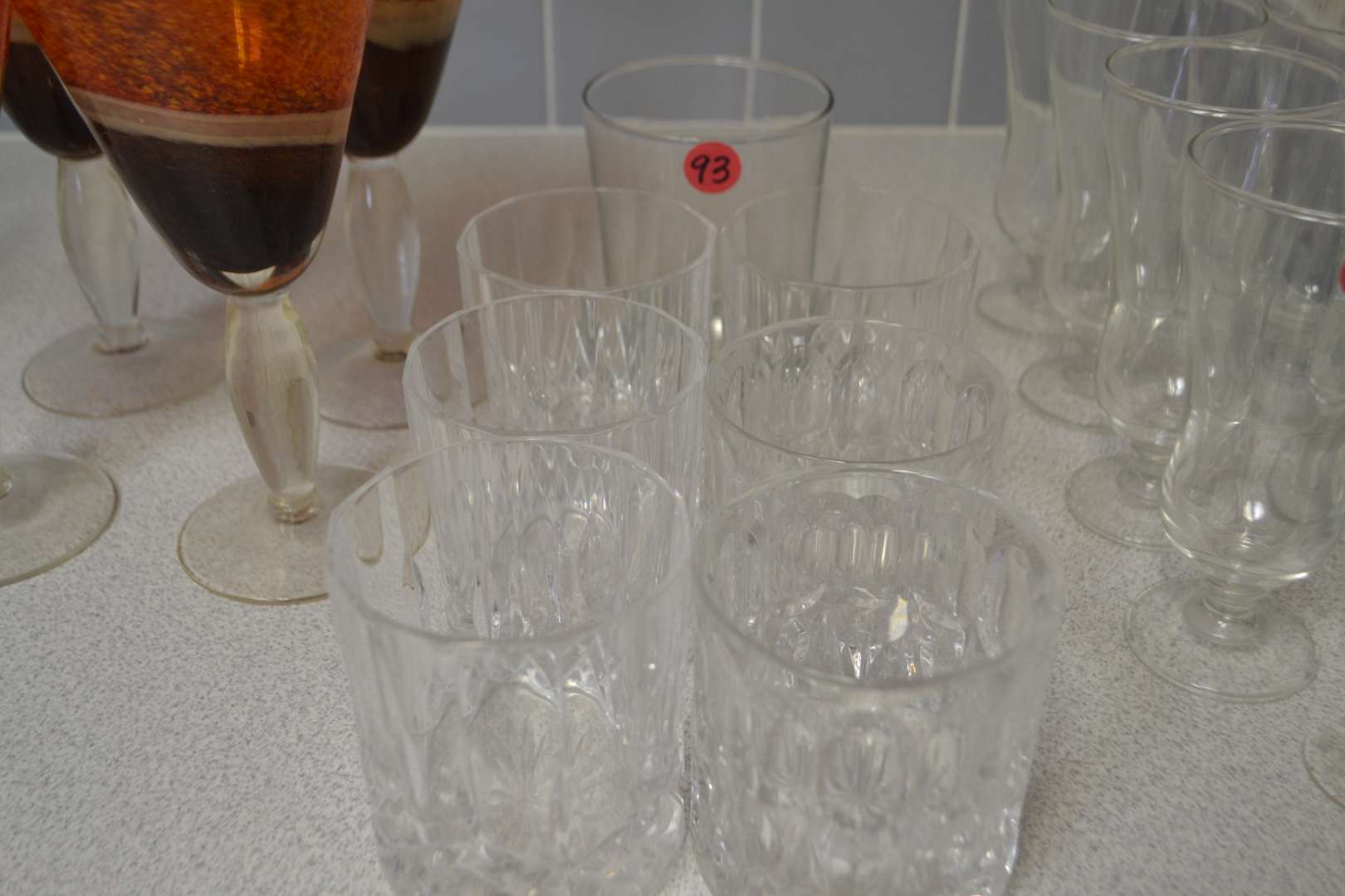 Lot # 93 LOT OF DRINKING GLASSES