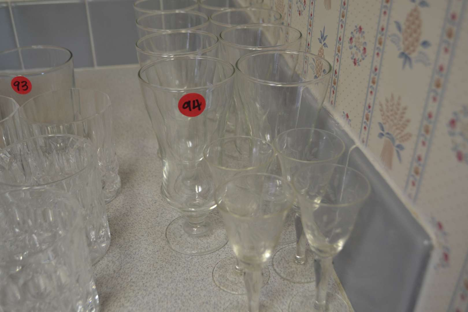 Lot # 94 LOT OF BRANDY & WINE GLASSES