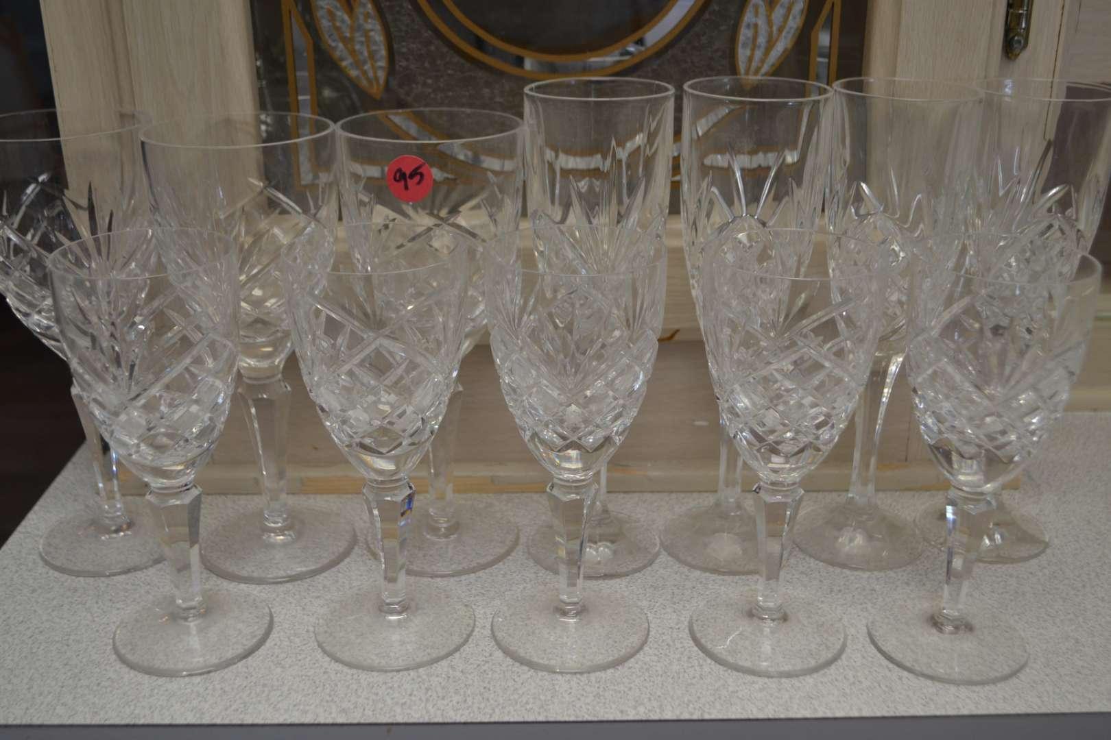 Lot # 95 BEAUTIFUL CUT GLASS/CRYSTAL DRINKING GLASSES