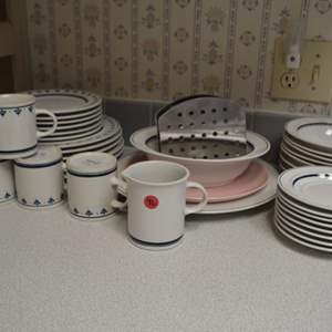 Lot # 96 LOT OF DISHES, BOWLES & CUPS