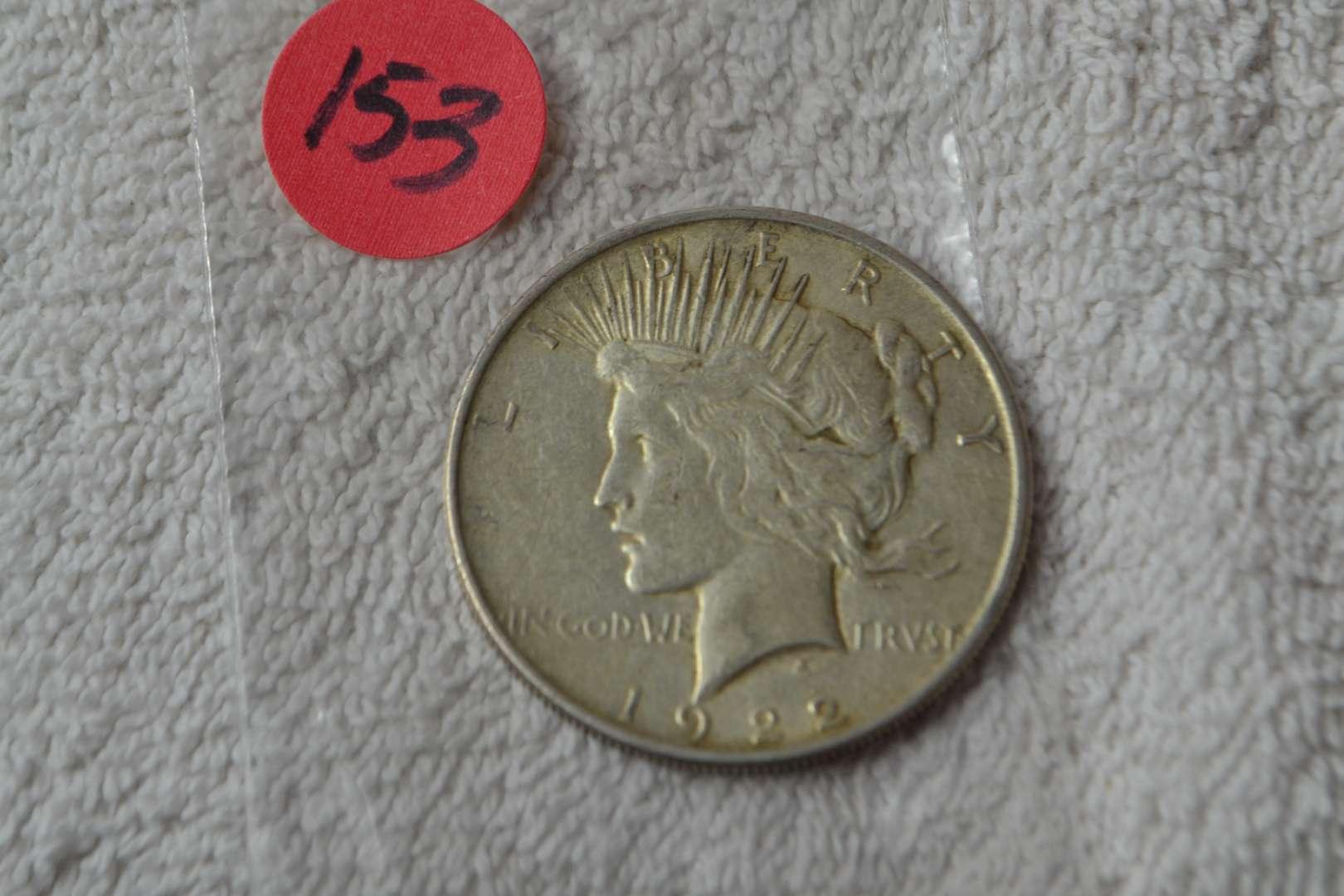 Lot # 153 1922 SILVER PEACE DOLLAR