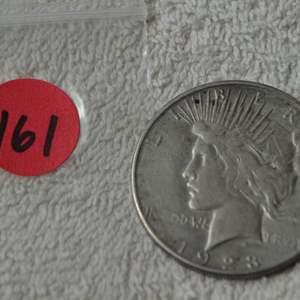Lot # 161 1923-S SILVER PEACE DOLLAR
