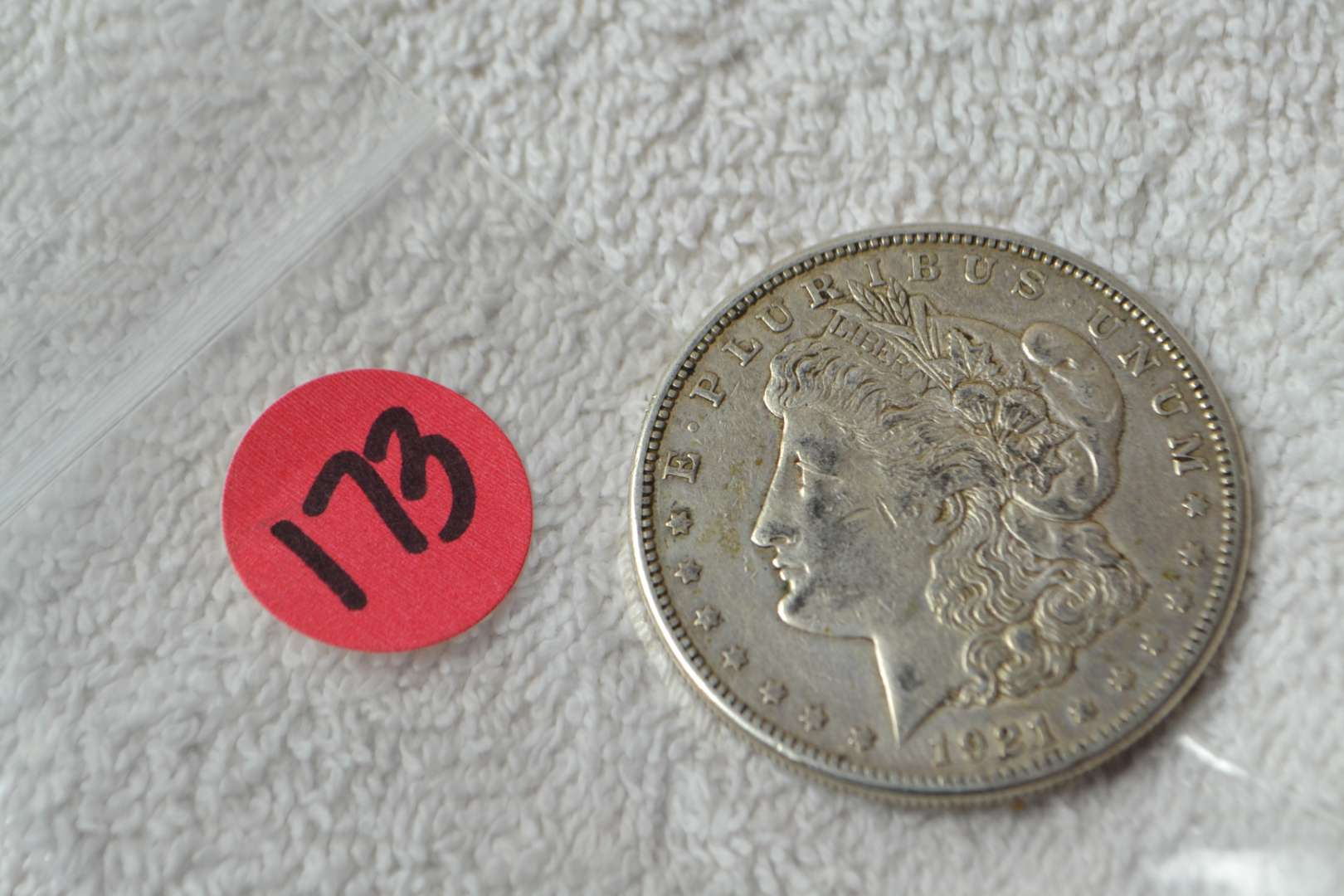 Lot # 173 1921-S MORGAN SILVER DOLLAR
