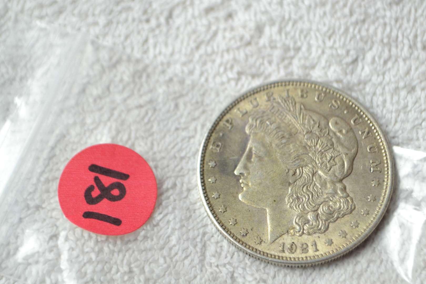 Lot # 181 1921 MORGAN SILVER DOLLAR