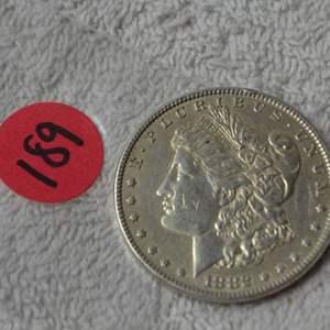 Lot # 189 1882 MORGAN SILVER DOLLAR