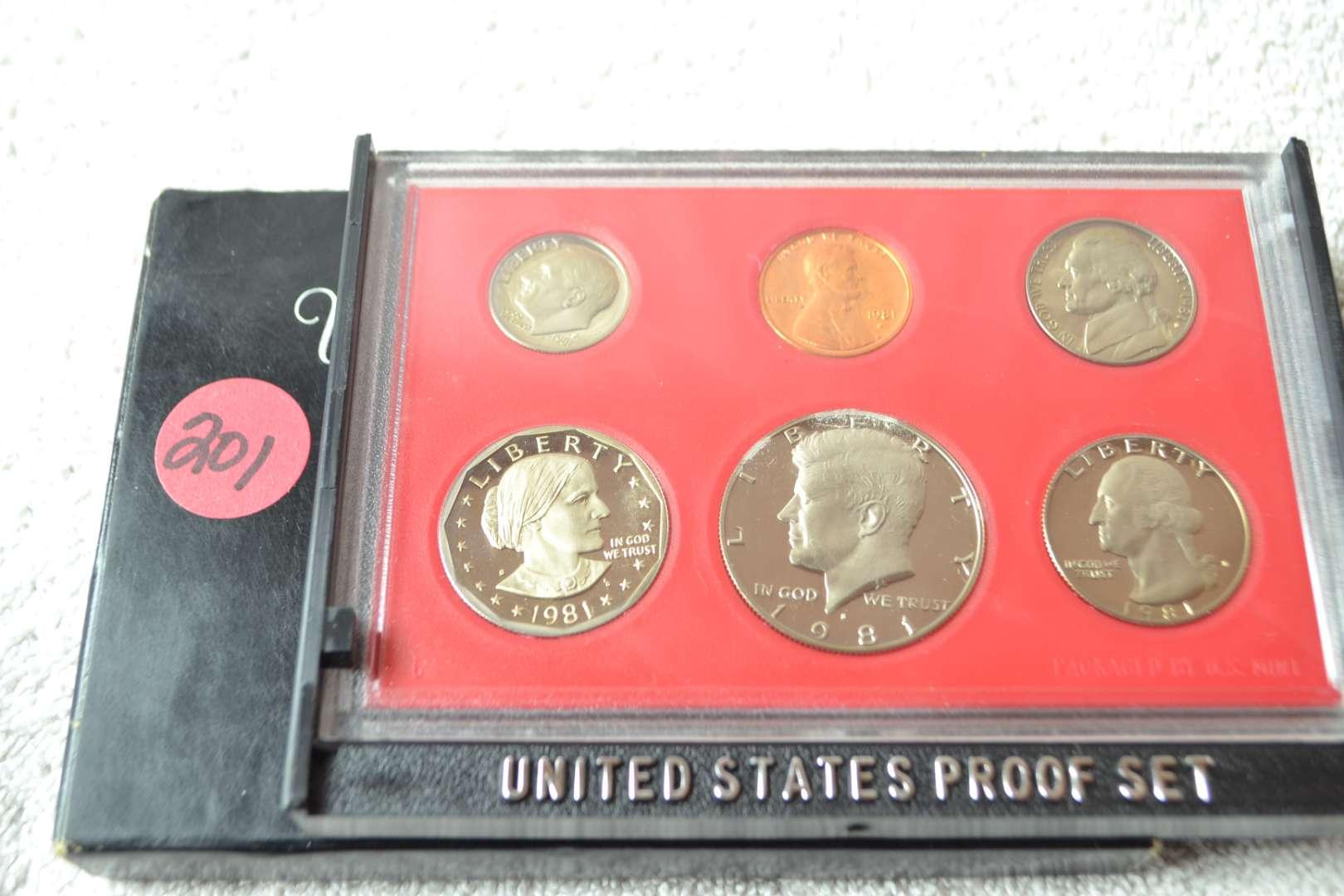 Lot # 201 1981 UNITED STATES PROOF SET