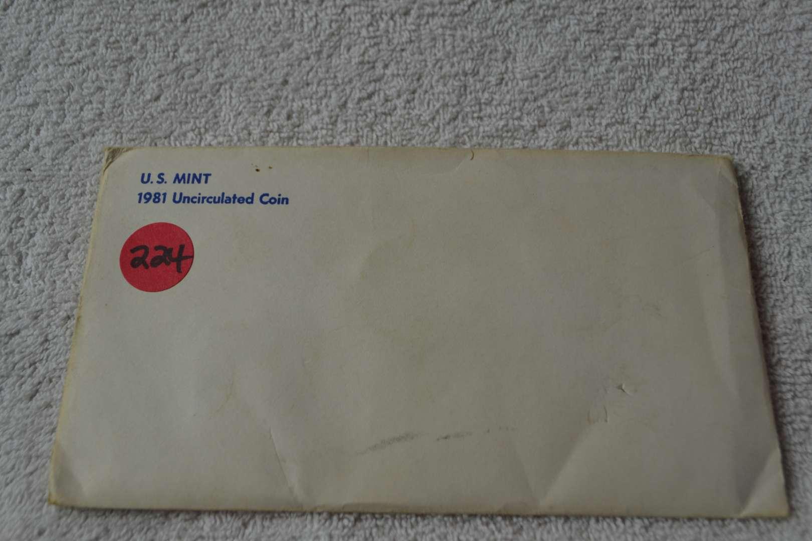 Lot # 224 1981 UNITED STATES MINT SET
