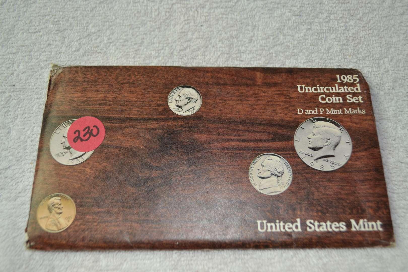 Lot # 230 1985 UNITED STATES MINT SET