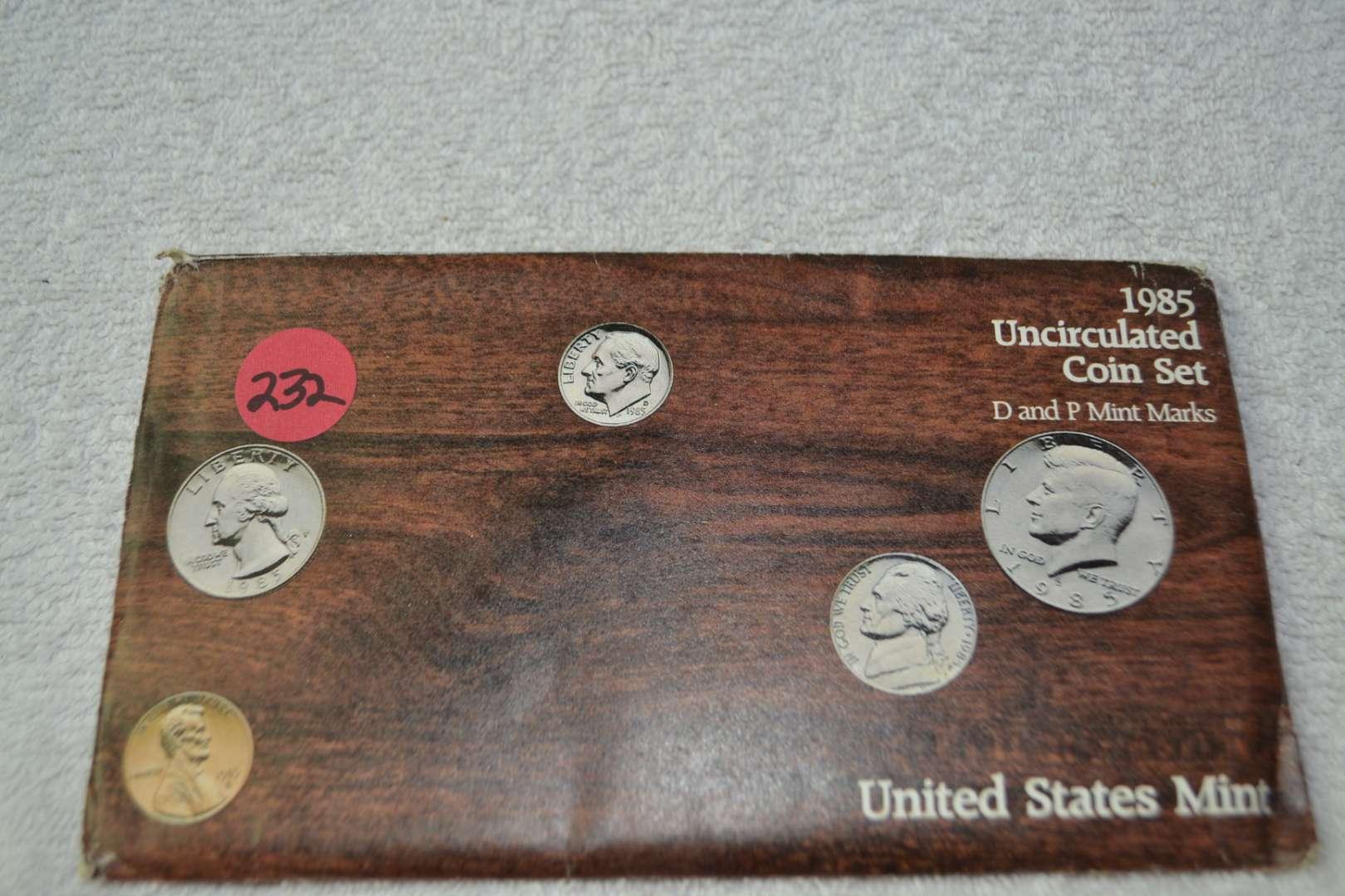 Lot # 232 1985 UNITED STATES MINT SET