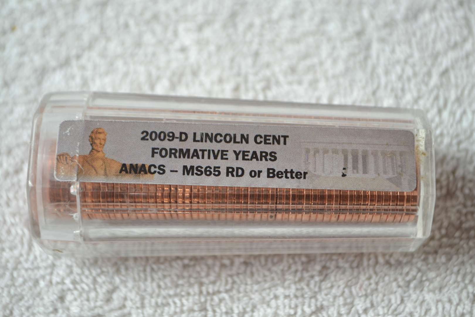 Lot # 234 2009-D LINCOLN CENT ROLL FORMATIVE YEARS ANACS GRADED MS-65 RD OR BETTER