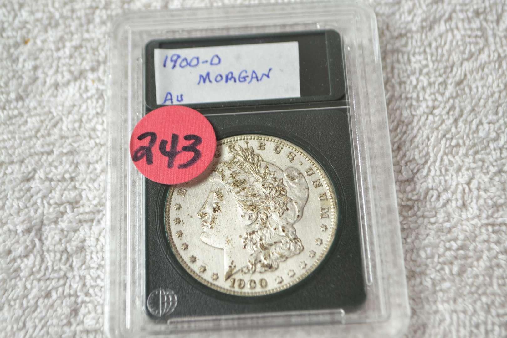 Lot # 243 1900-O MORGAN SILVER DOLLAR AU
