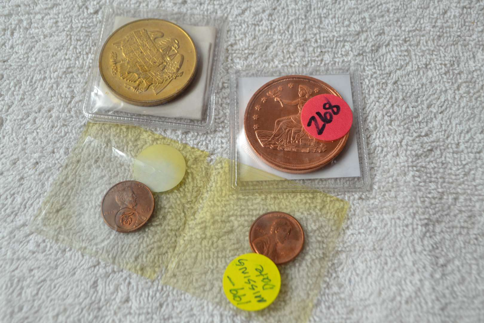 Lot # 268 FOUR ASSORTED COINS