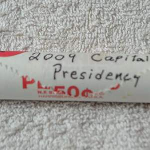Lot # 271 ONE ROLL 2009 CAPITAL PRESIDENCY LINCOLN CENTS