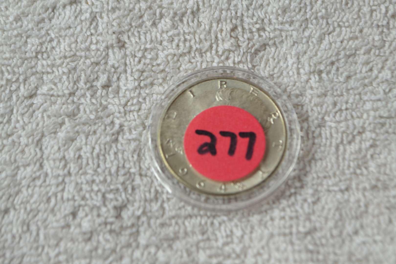 Lot # 277 1964-D KENNEDY HALF DOLLAR 90% SILVER