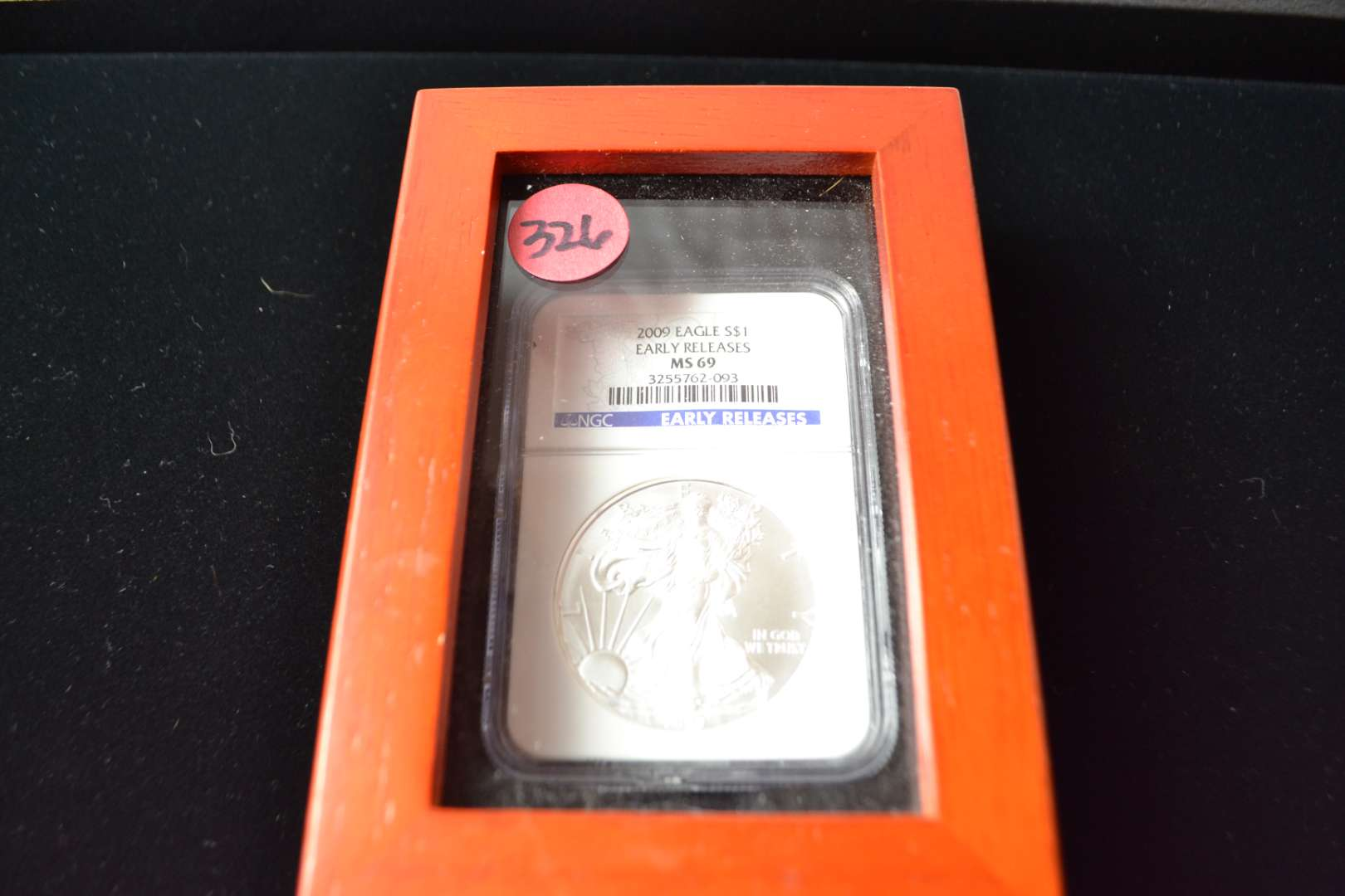 Lot # 326 2009 AMERICAN SILVER EAGLE EARLY RELEASE NGC GRADED MS69