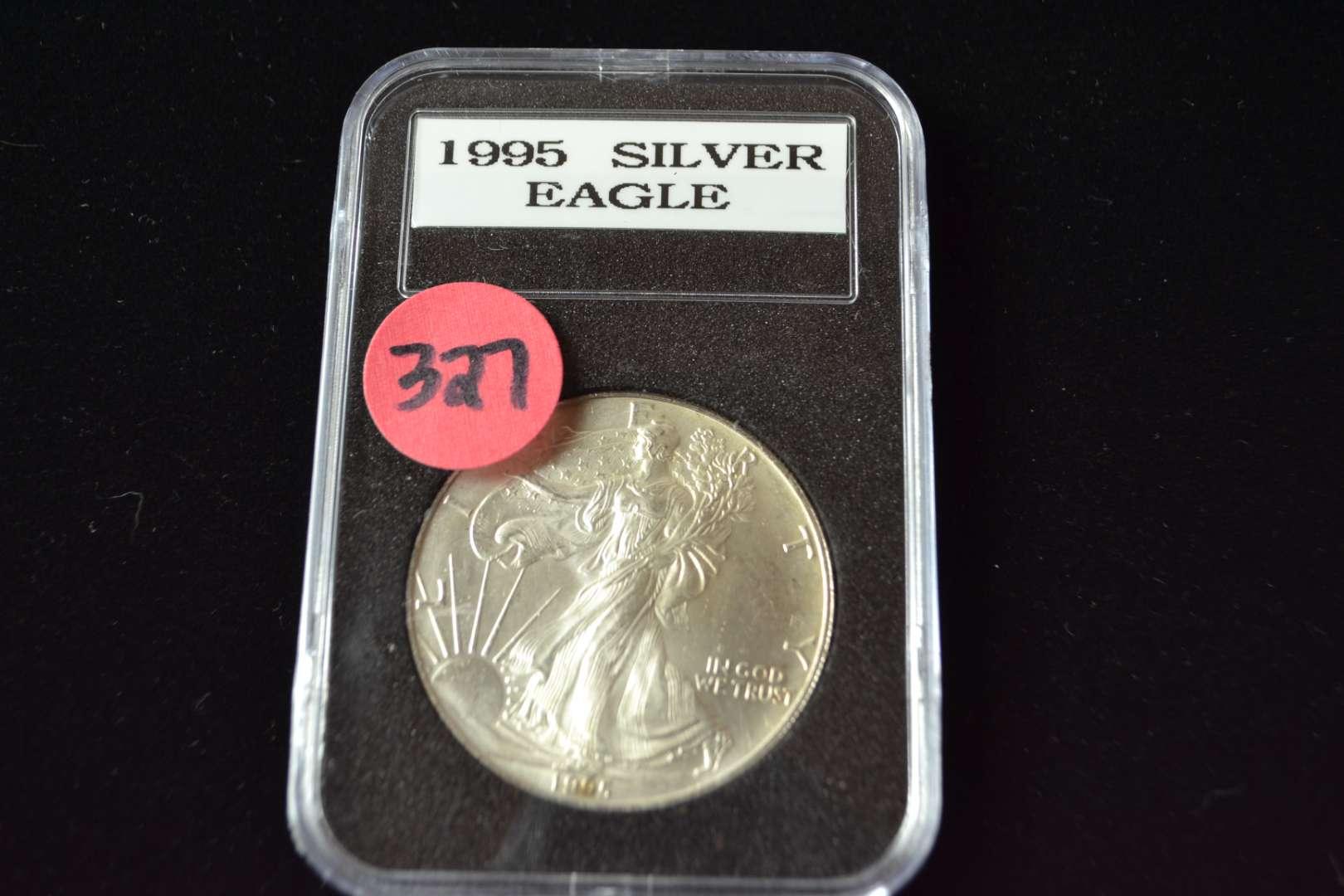 Lot # 327 1995 AMERICAN SILVER EAGLE