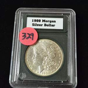 Lot # 329 1900 MORGAN SILVER DOLLAR