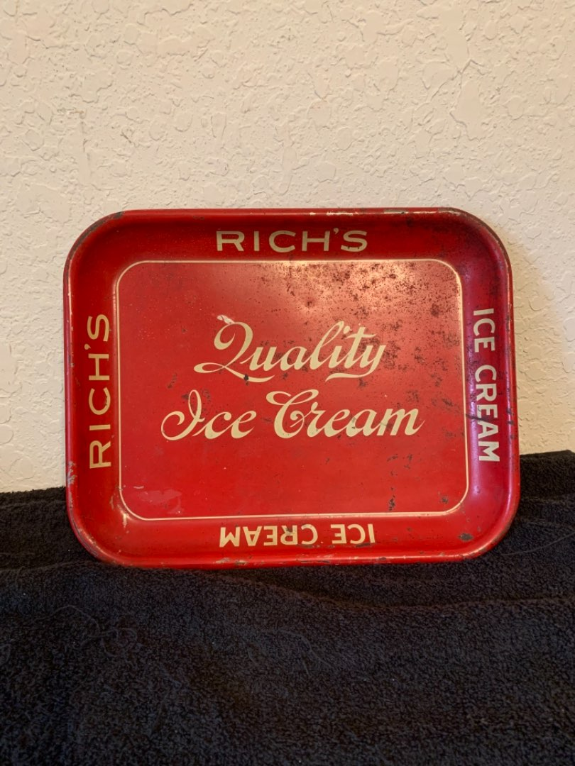 Lot # 2  Vintage Rich's Quality Ice Cream Tray