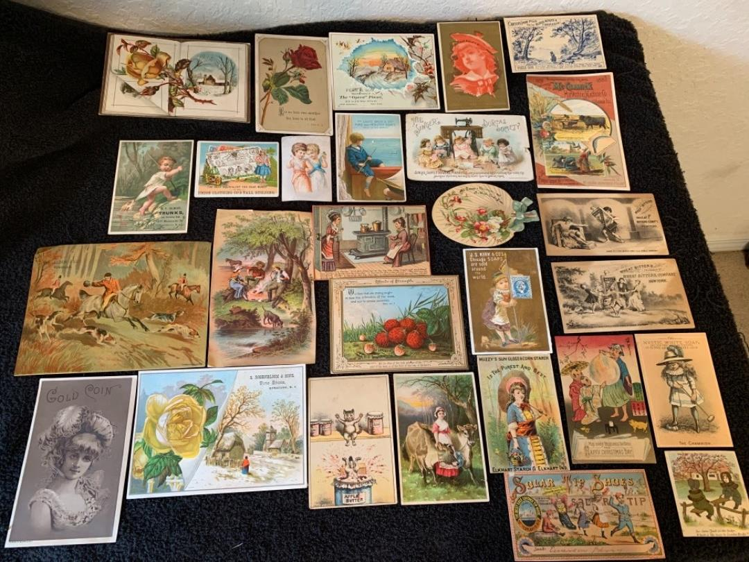 Lot # 4 MUST SEE DESCRIPTION!! Lot Of Great Antique Victorian Trade Cards. See Below