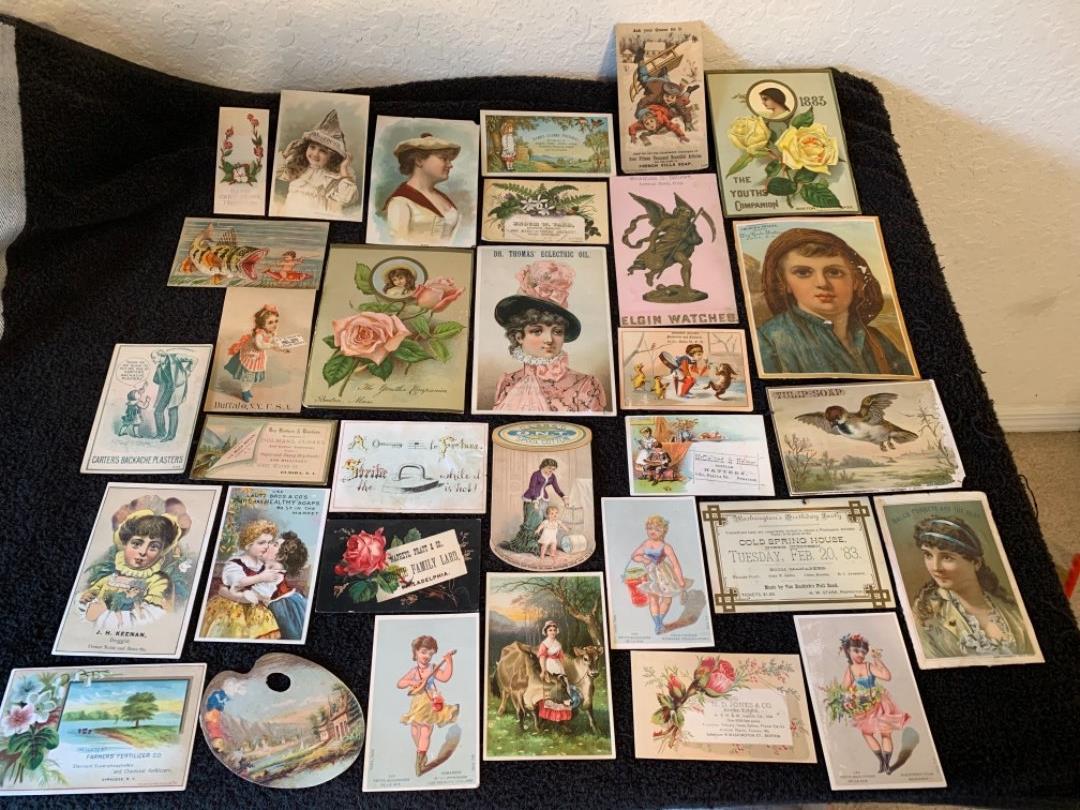 Lot # 5 See Lot 4 Description. Great Lot Antique Victorian Trade Cards