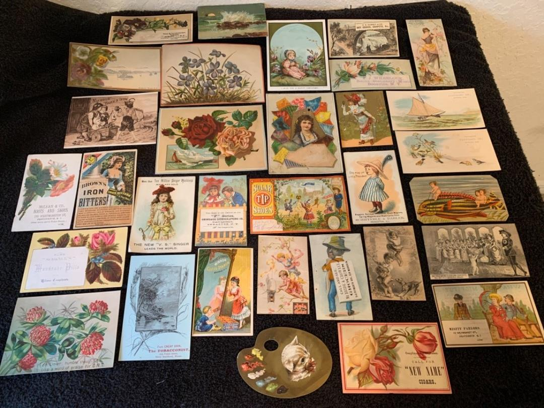 Lot # 6 See Lot 4 Description. Great Lot Antique Victorian Trade Cards