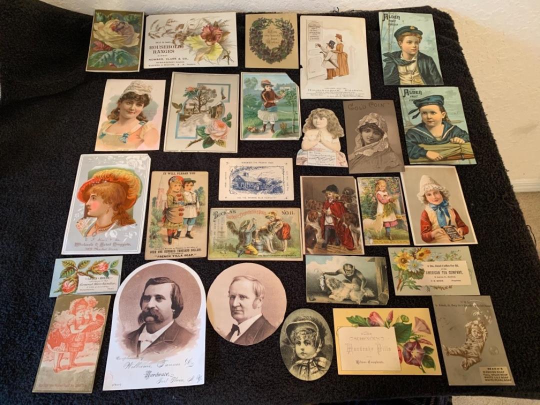 Lot # 7 See Lot 4 Description. Great Lot Antique Victorian trade Cards