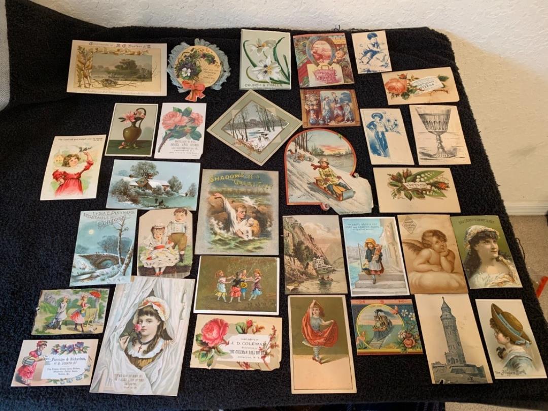 Lot # 8 See Lot 4 Description. Great Lot Antique Victorian Trade Cards