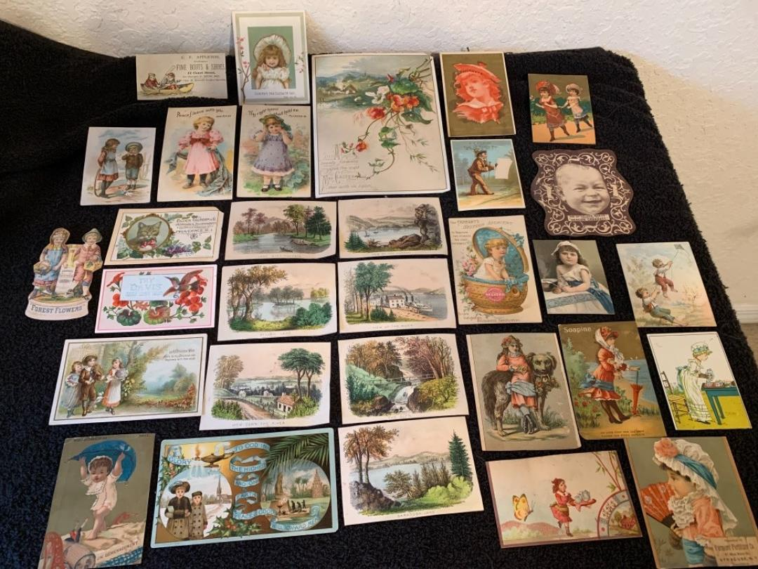Lot # 9 See Lot 4 Description. Great Lot Victorian Trade Cards