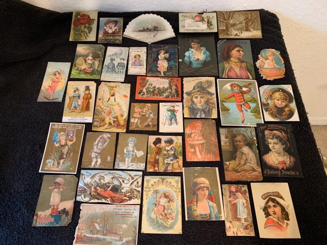 Lot # 10 See Lot 4 Description. Great Lot Antique Victorian Trade Cards