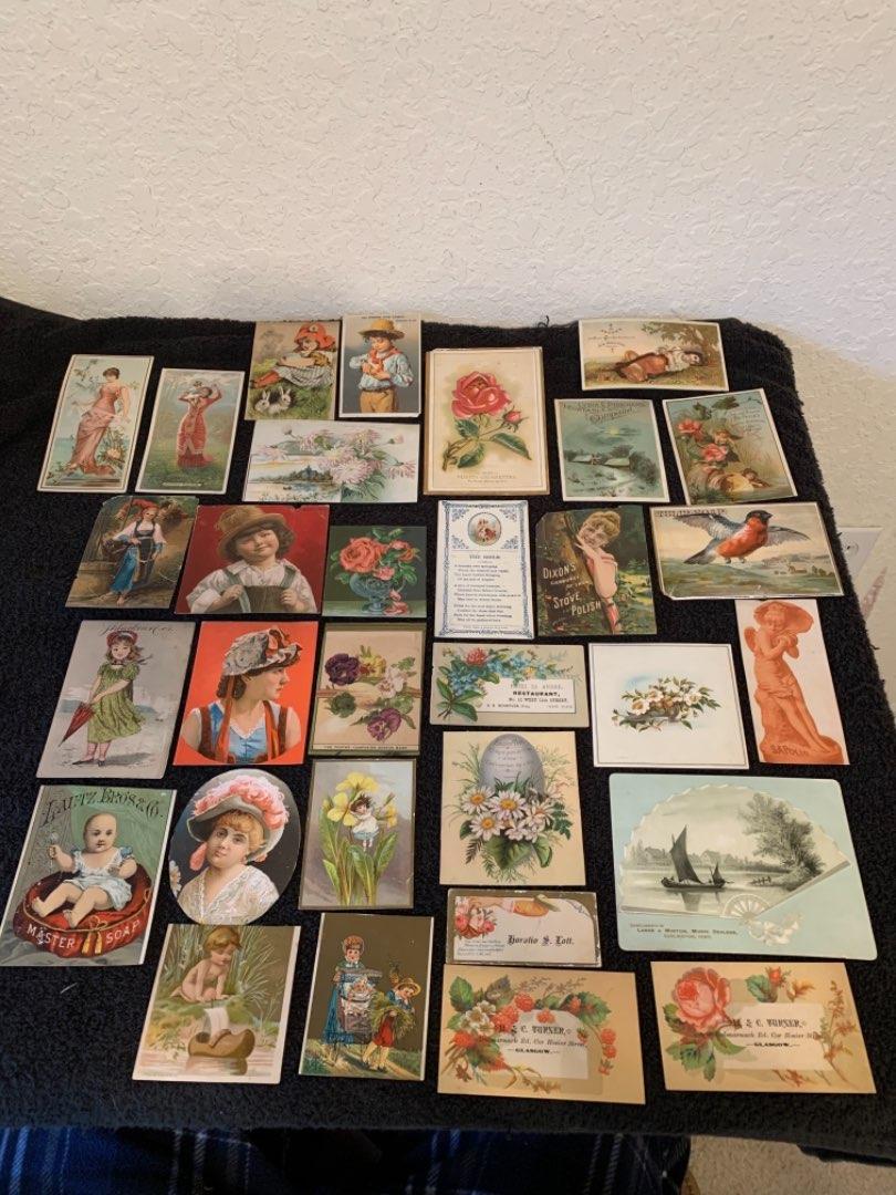 Lot # 11 See Lot 4 Description. Great Lot Antique Victorian Trade Cards